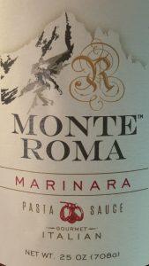 Monteroma Marinara Sauce For Sale at the Italian Restaurant