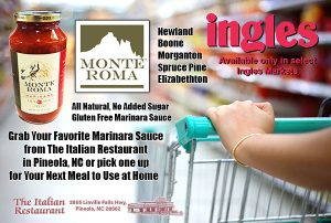 Marinara Sauce Now Available at only select locations at Ingles Markets
